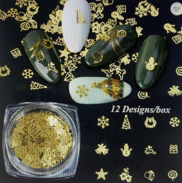 Christmas Nail Art - 12 Designs