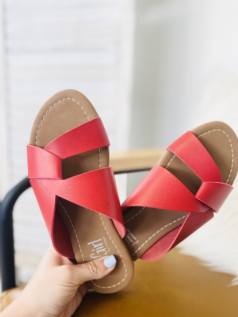 Corky Scuba Sandal- Red