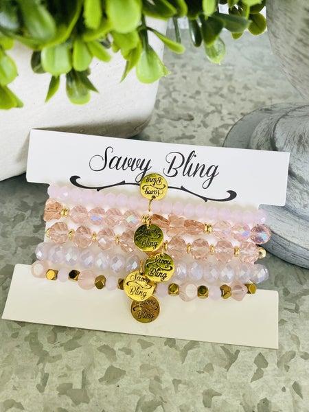 Pink Lace Bracelet Stack