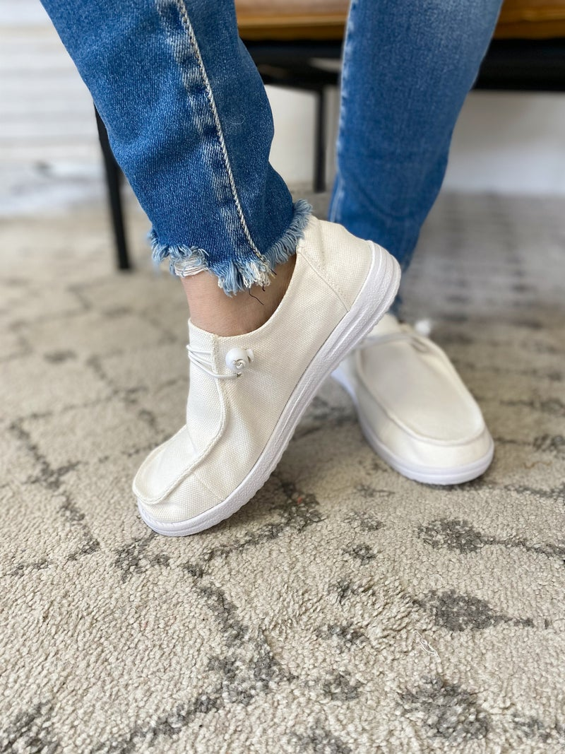 Corky's Kayak White Shoes