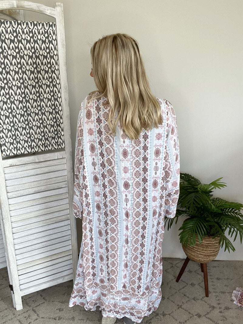 Hot Summer Day Vibes Kimono- Blue