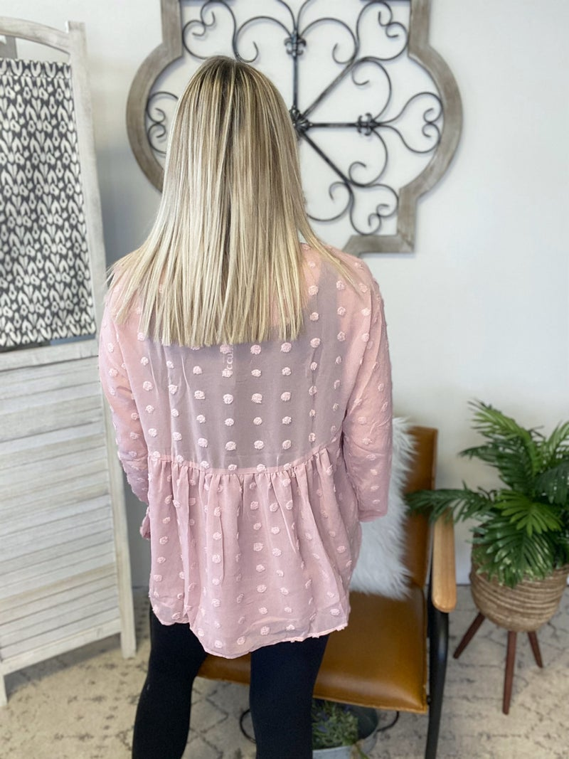 Dress It Up Blouse- Mauve
