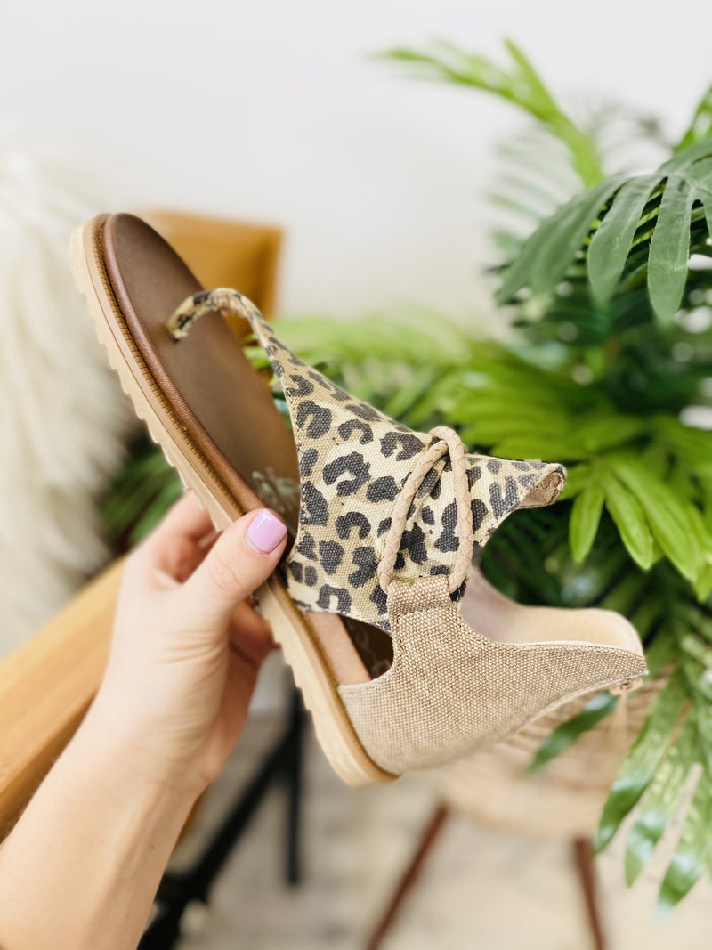 Very G Sparta Tan Leopard Sandals