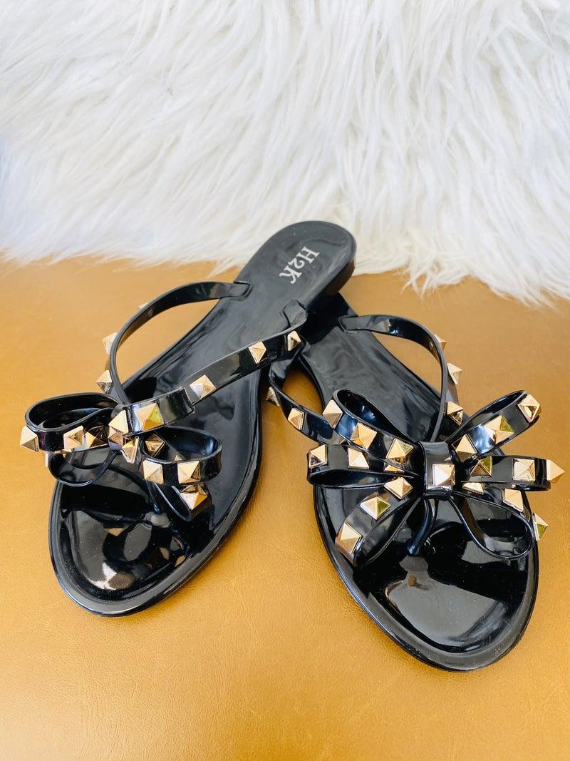 The Diana Black Sandal