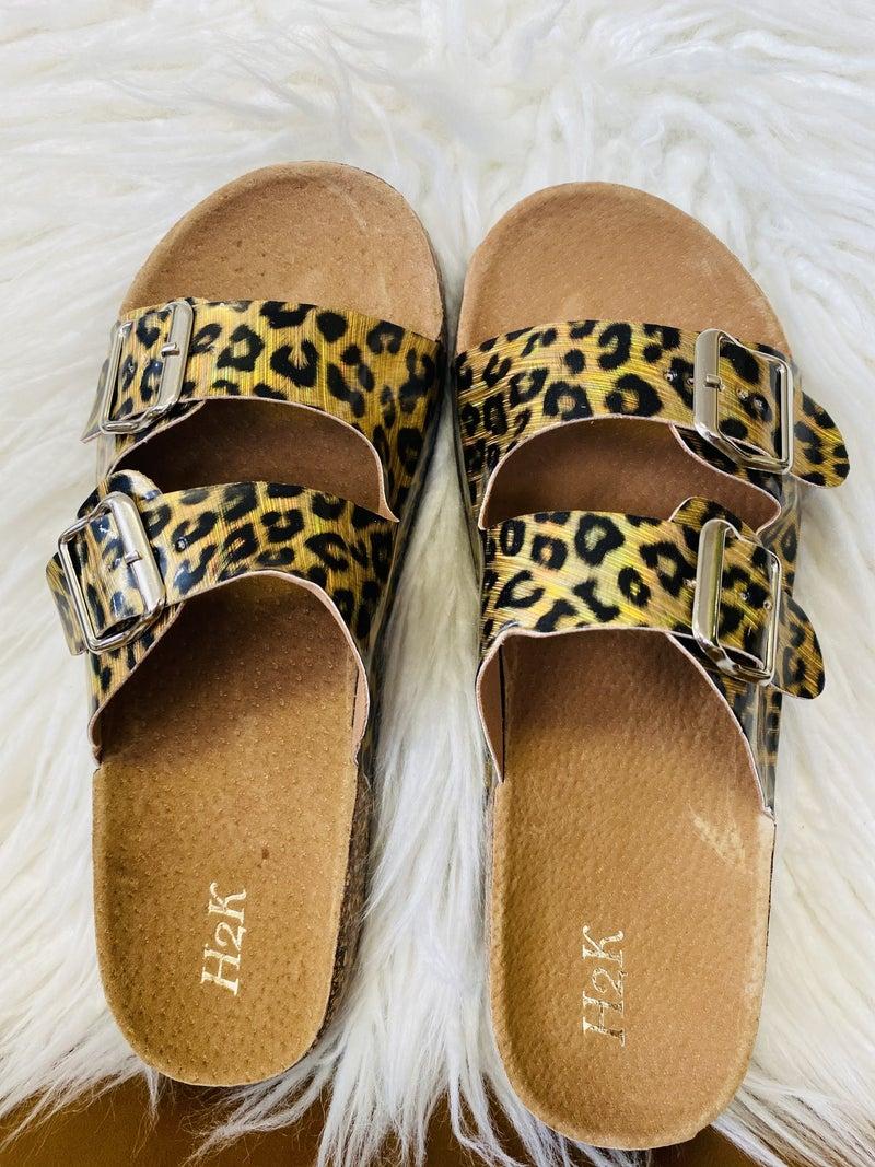 The Karen B Leopard Sandals