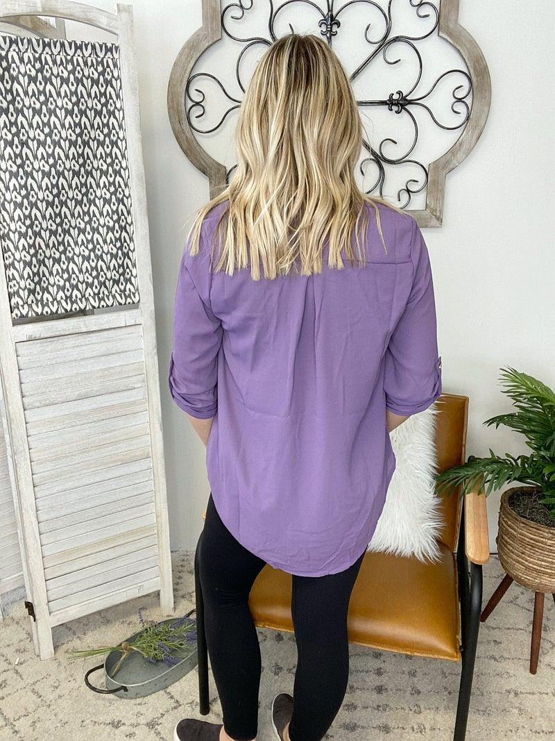 Dressing Nice Top- Lilac Grey