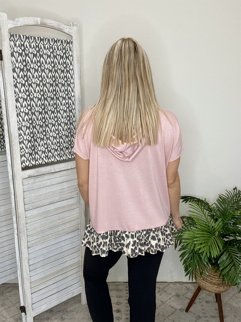 Rocking The Cheetah Top- Dusty Pink