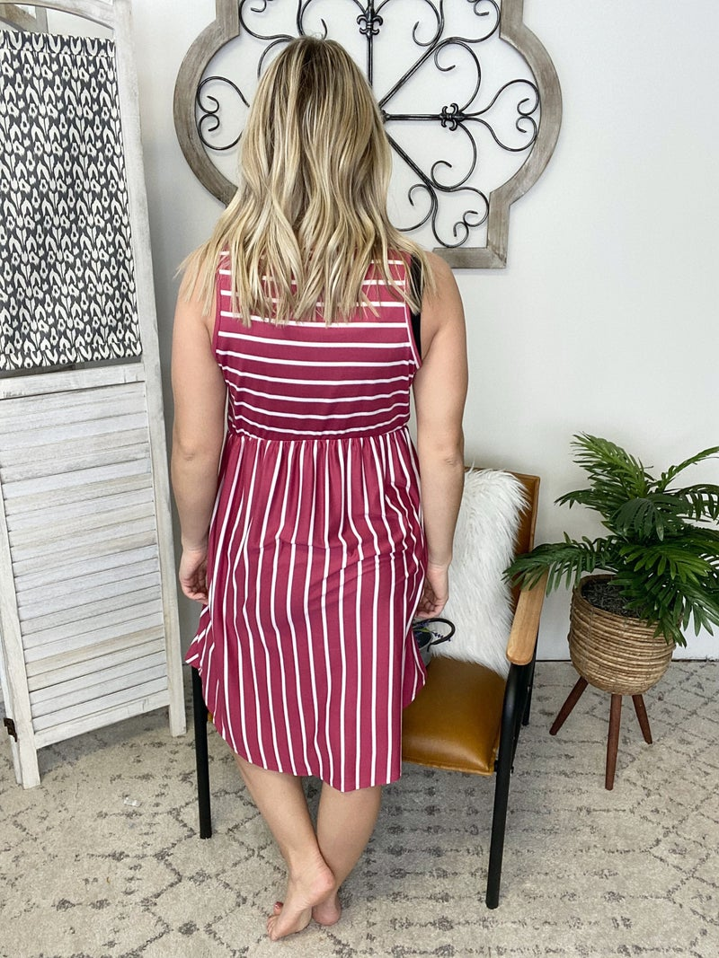 Sleeveless Mauve Dress