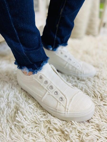 Corky's White Babalu Sneaker