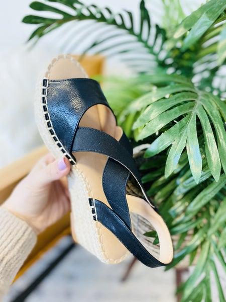 Corky's Kimmie Black Sandals