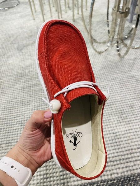 Corky Red Kayak Sneaker