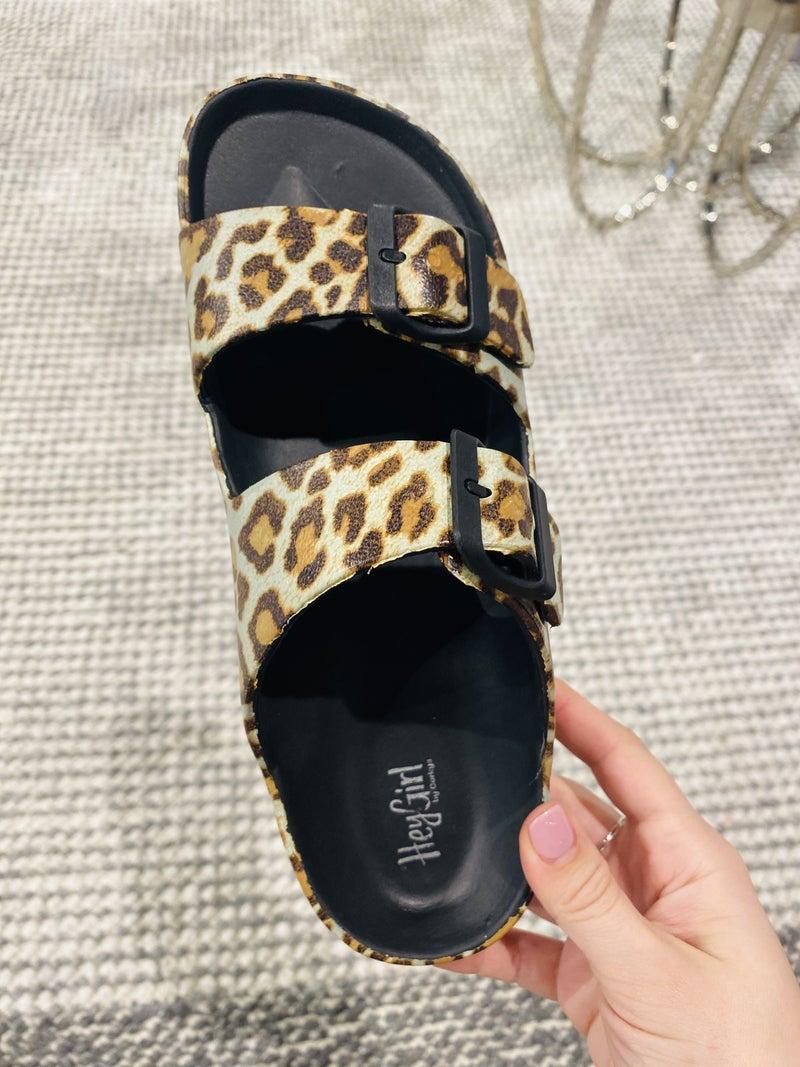Corky Waterslide Leopard Sandals