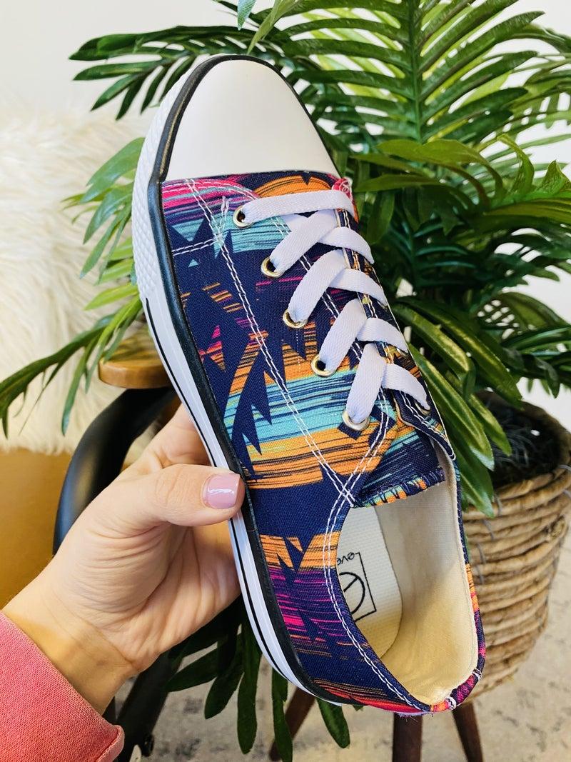 Aztec Purple Sneakers