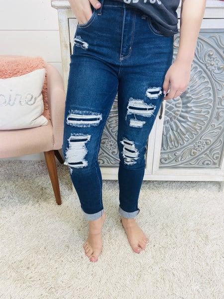 Risen Ocean Blue Jeans