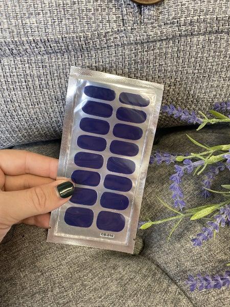 Fashion Nail Wraps - Royal Blue