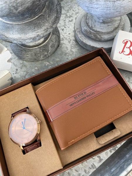 Gift Set Wallet & Watch