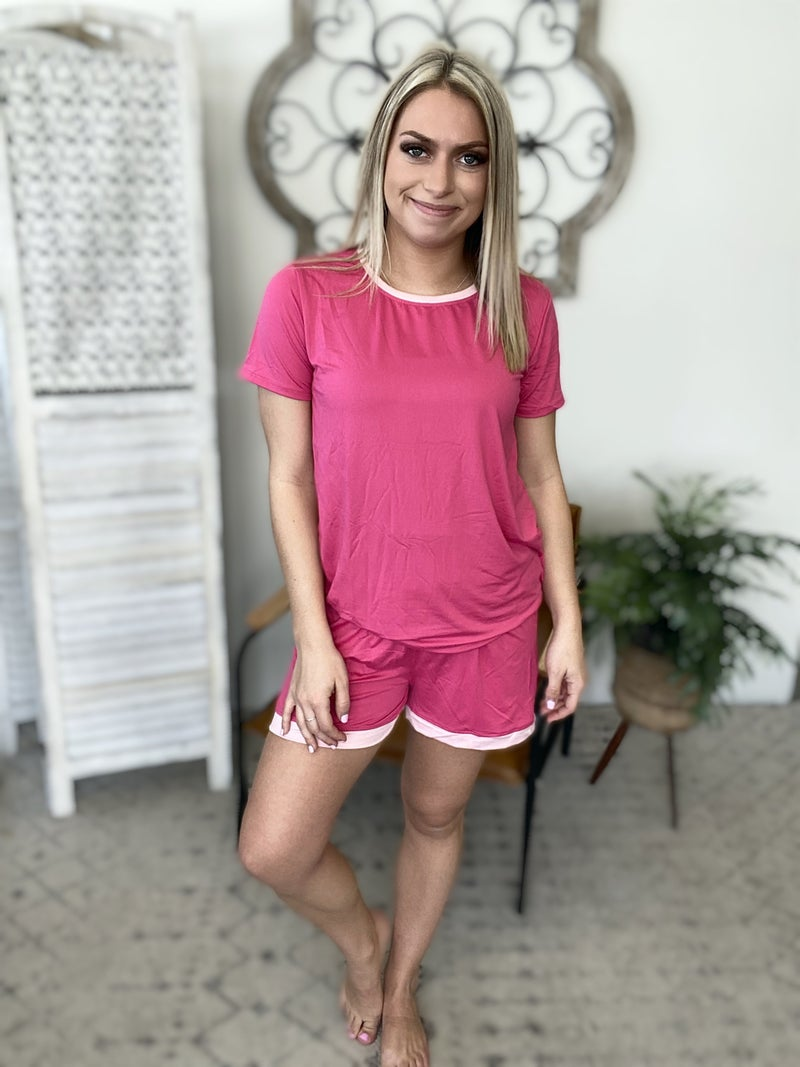 Perfect Summer Pajama Set- Lt. Pink