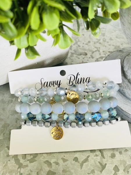 Oasis Mint Bracelet Stack