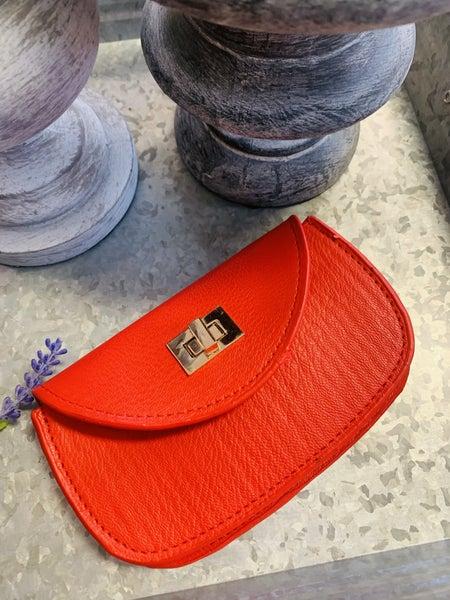 Mini Belt Pouch Purse ~ Red
