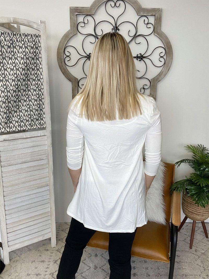 Simple Look Top- Ivory