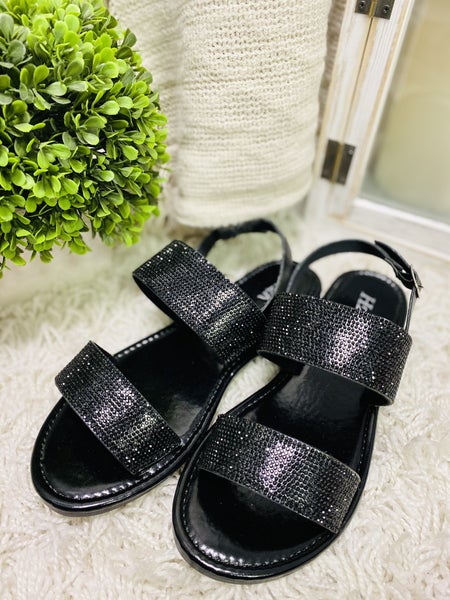 Sun Is Shining Black Sandals