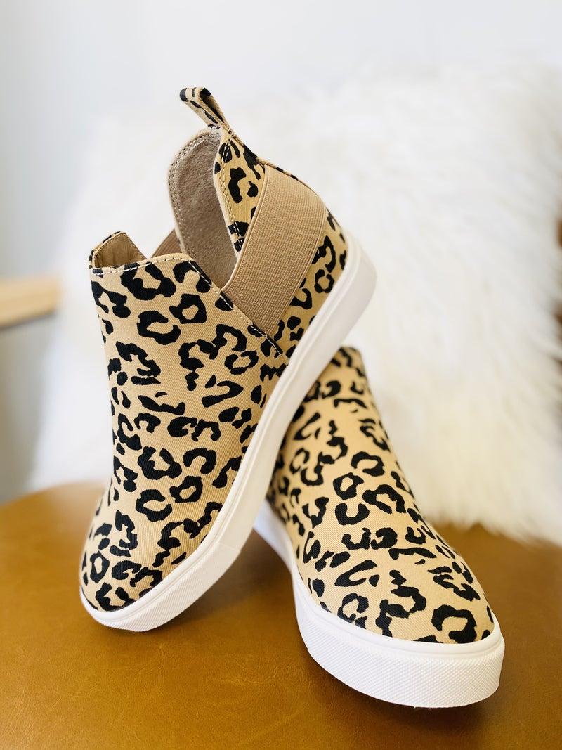 The Diana Leopard Tan Sneaker