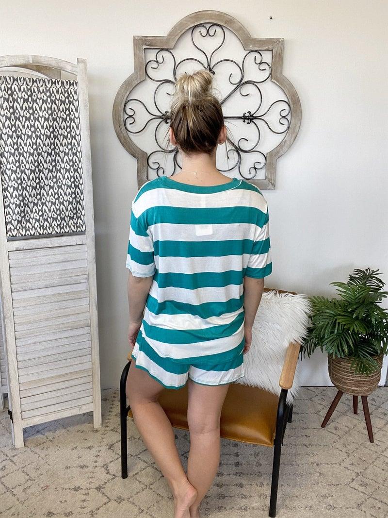 Summer Breeze Loungewear Set- Teal