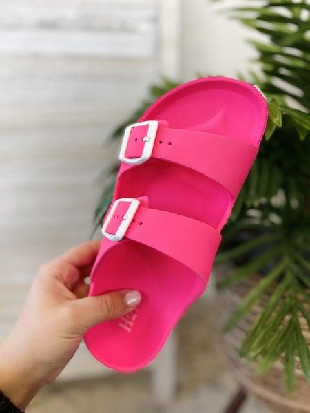 Be A Goddess Neon Pink Sandal
