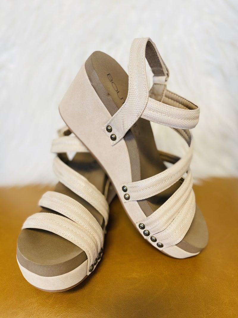 Corky's Lifeguard Blush Metallic Sandal