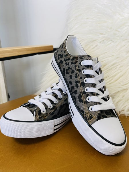 Must Have Pewter Leopard Sneakers