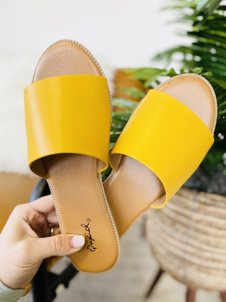 Take Me On Vacay Sandals- Saffron