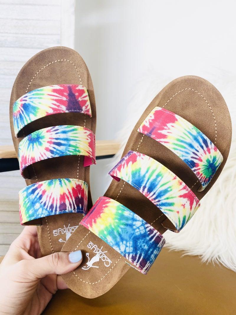 Corky Dafne Sandal- Tie Dye