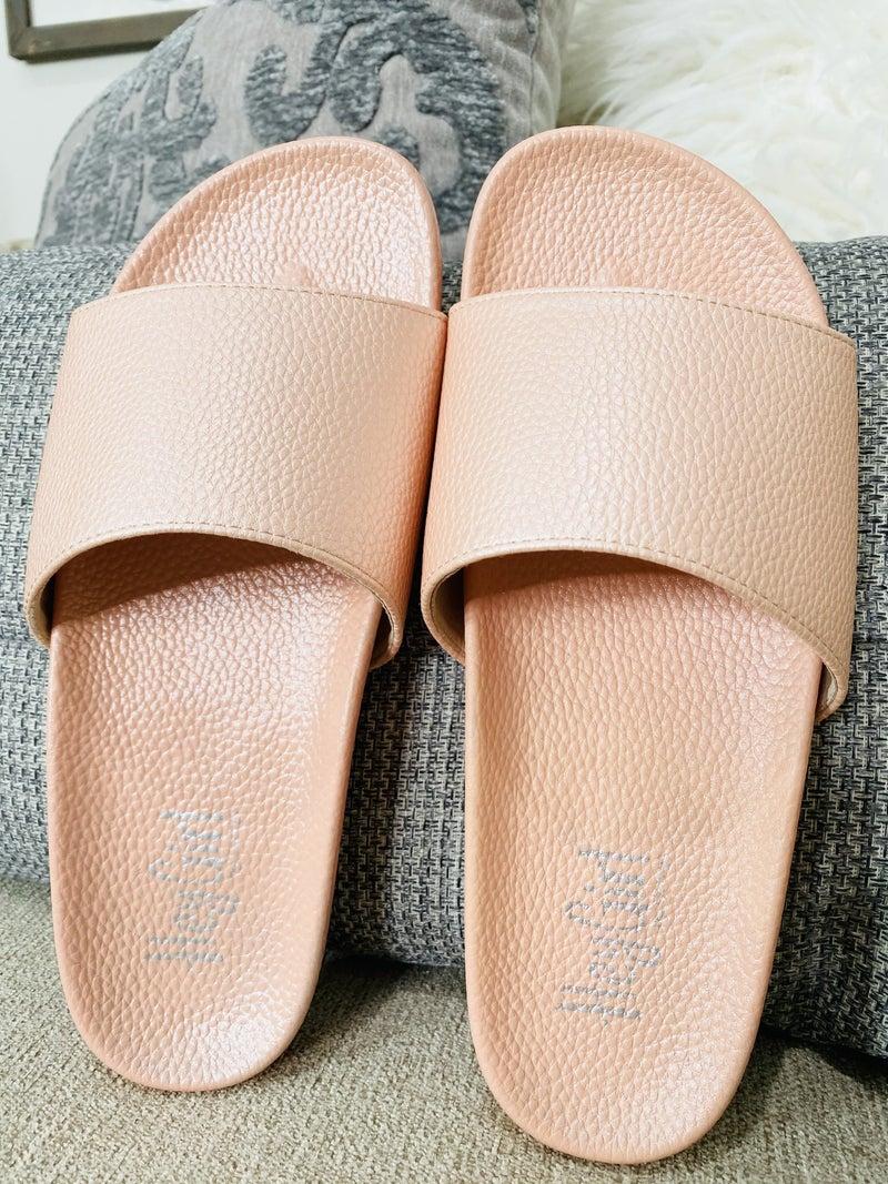 Corky Backyard Sandal- Blush