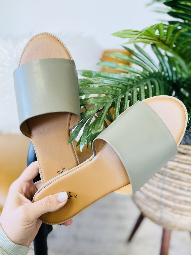 Take Me On Vacay Sandals- Khaki