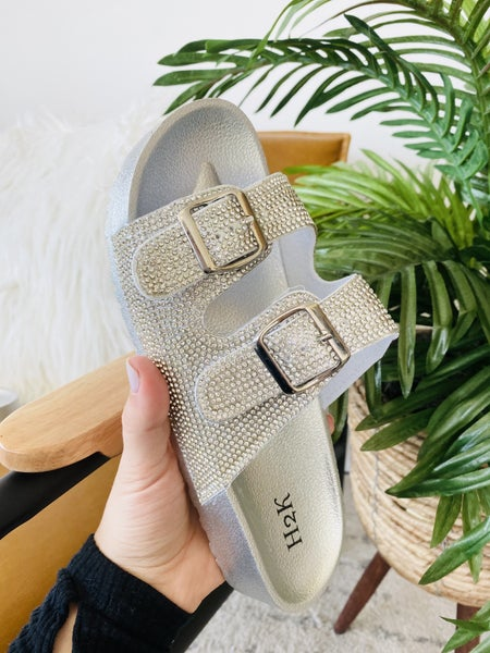 Turning Heads Silver Sandals
