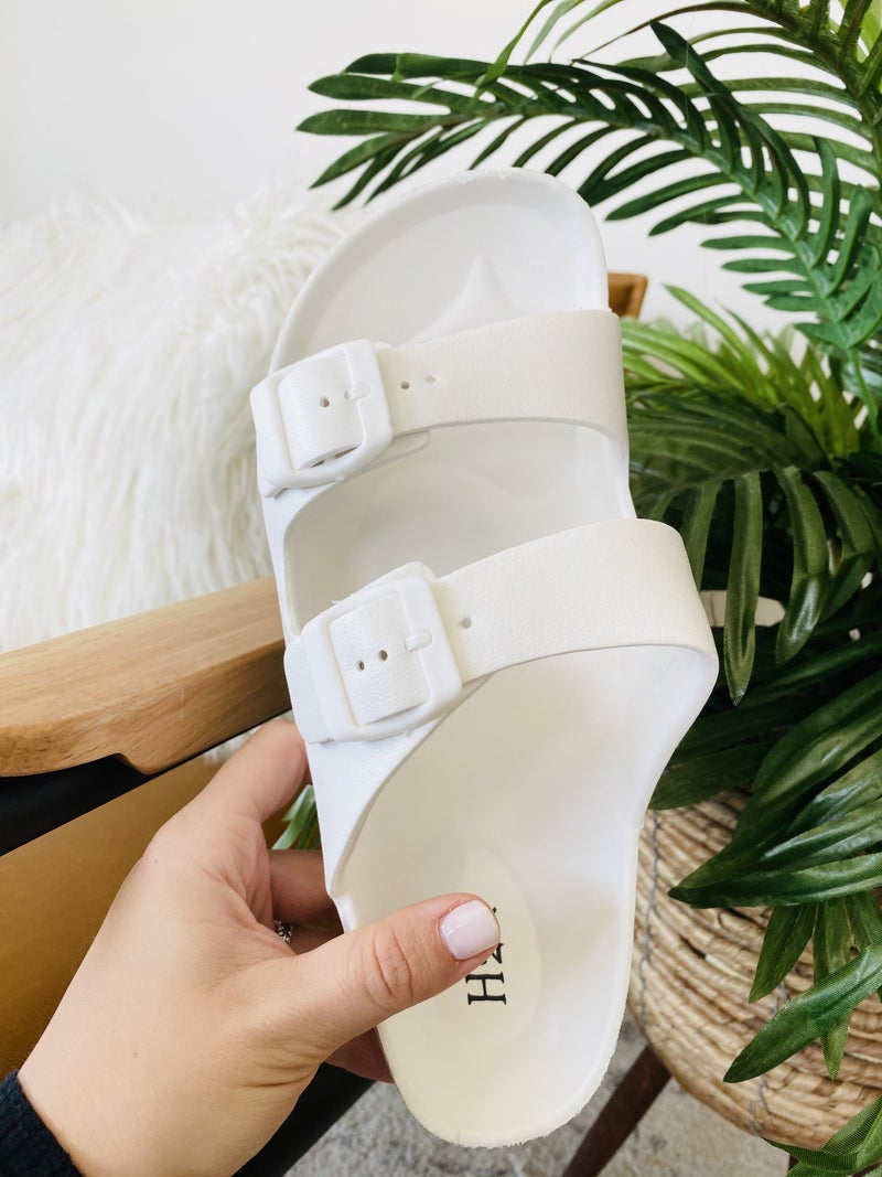 Be A Goddess White Sandals