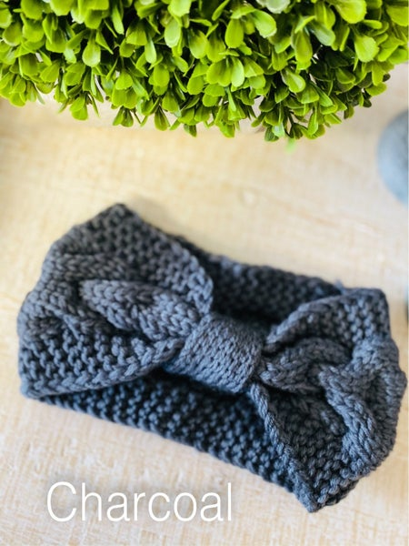 Bow Knitted Headband ~ 10 Colors