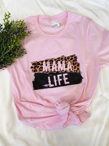 Leopard Mama Life Graphic Tee