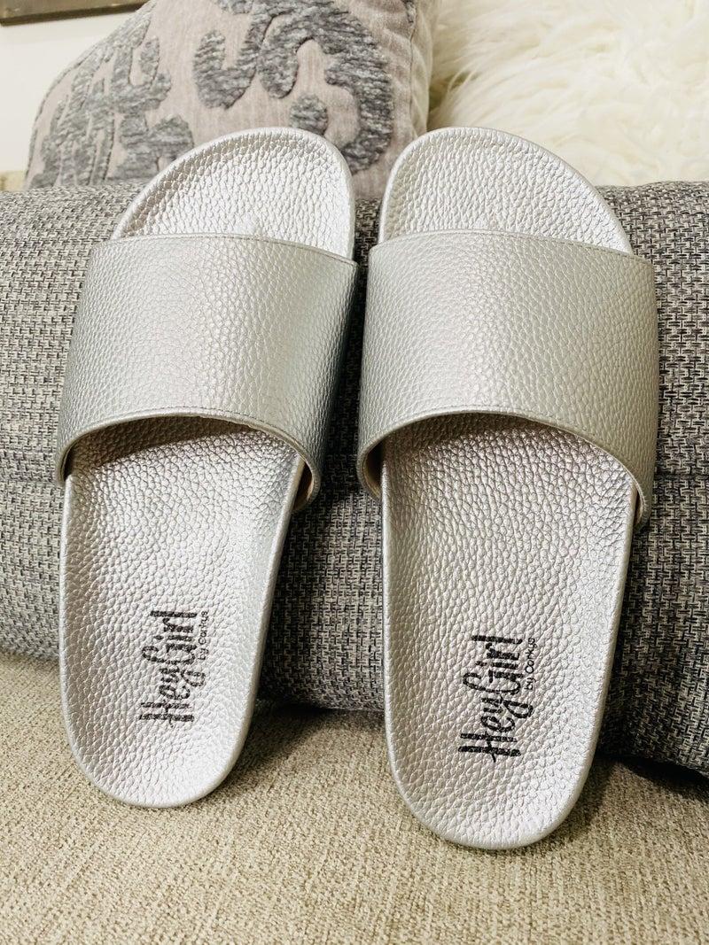 Corky Backyard Sandal- Silver