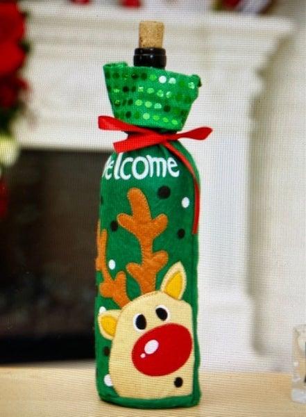 Christmas Wine Covers ~ 3 Options
