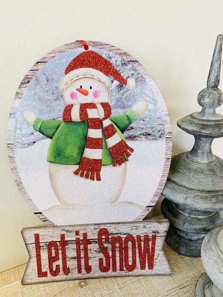 Let It Snow Globe Decor