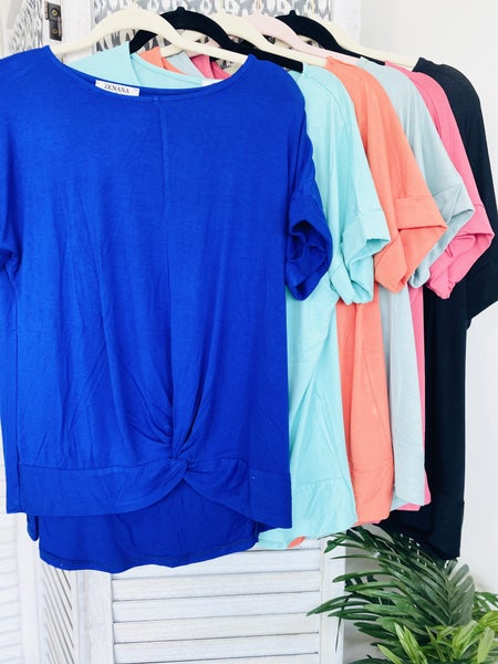 Twist It Up Girl Top~ 6 Colors
