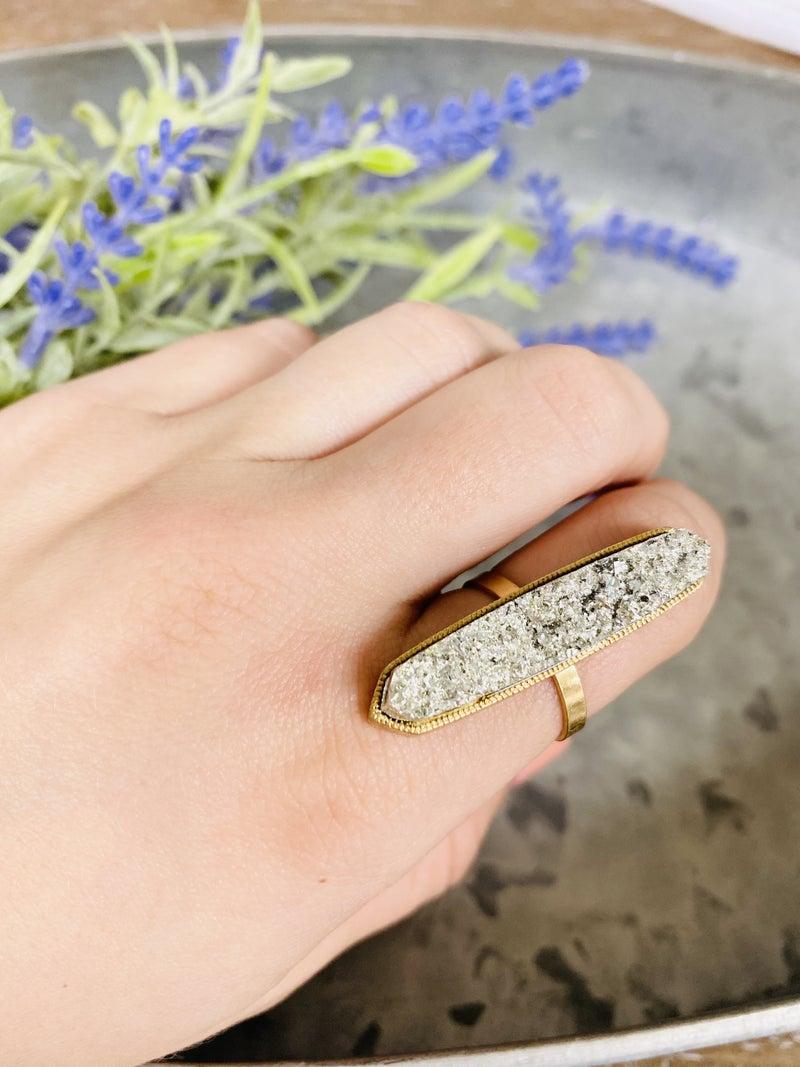 Druzy Silver Ring