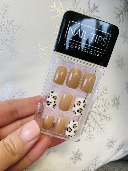 Leopard & Taupe Press On Nails