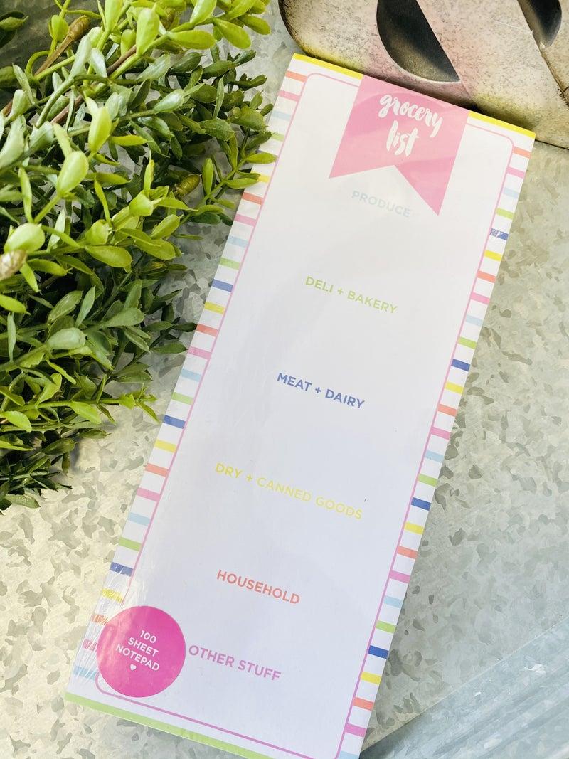 Striped Grocery List Pad