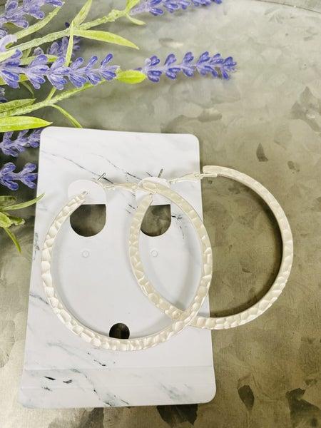 Simple Is Key Earrings- Silver