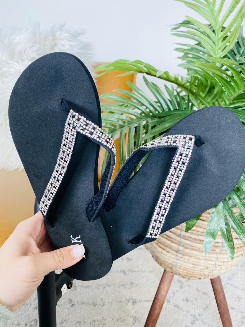 Queen Bee Black Sandals