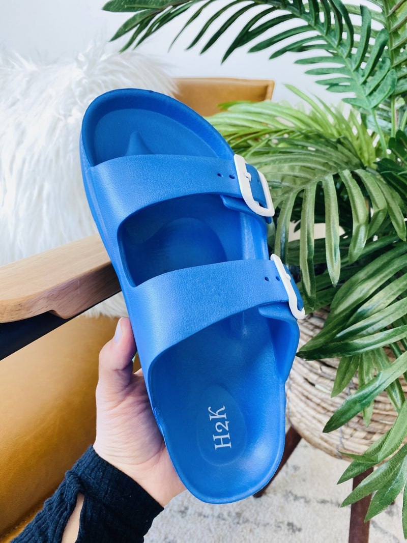 Be A Goddess Blue Sandals
