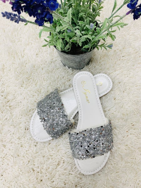 Flashy At Heart Silver Sandals
