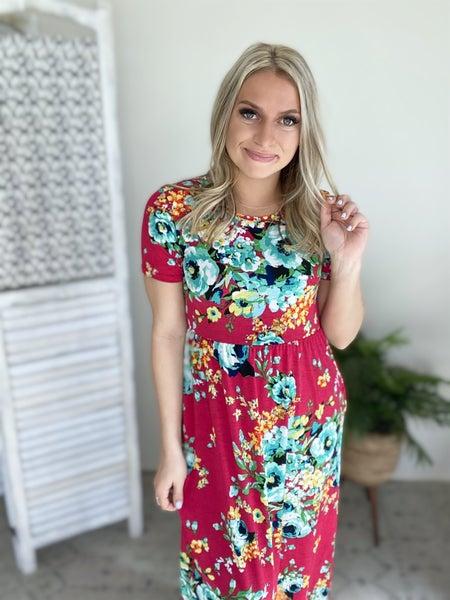 Don't Make Mistakes Dress-  Fuchsia